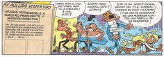 Viñeta de la historieta de Francisco Ibáñez «Especial Aniversario» incluida en el Super Humor del mismo nombre (Nº 1, ediciones B, 13º edición 2012).