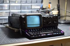 I purchased some new digital to analog video gear and when I was testing it I noticed I had made a cyberdeck looking thing. : cyberDeck Portable Console, Techno Gadgets, Computer Projects, Computer Equipment, Output Device, Remote Sensing, Custom Pc, Hardware Software, Game Character Design