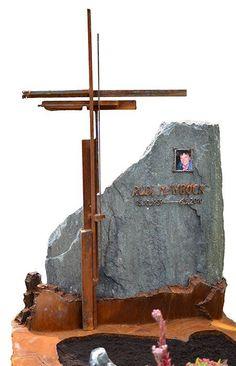 Herbert Gahr, Rusted Grave Monument | Scrap Metal Grave Cross | Corten Steel Grave Monument