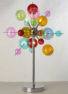 Quirky Lighting Quirky Multicolour Glass Ball 6 Light Table Lamp With Chrome Base In Home Furniture U0026 Lighting