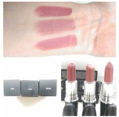 Mac lipsticks Twig, faux and brave