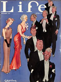 Classic (48) pp Life magazine featuring glamorous cover artwork by 'Gilbert Bundy'
