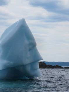 Newfoundland iceberg looks like Batman!!
