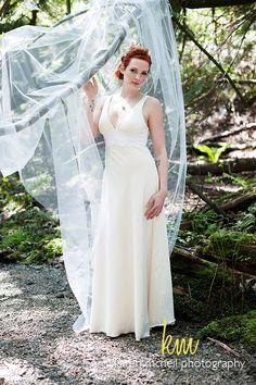 Vintage Rustic Wedding Dress Eco Friendly Destination Wedding Organic Cotton and Lace Classic Simple. $900.00, via Etsy.