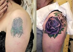 Cover up with before and after pictures