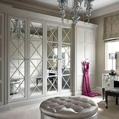 X Mullion Doors, Transitional, closet, The English Wardrobe