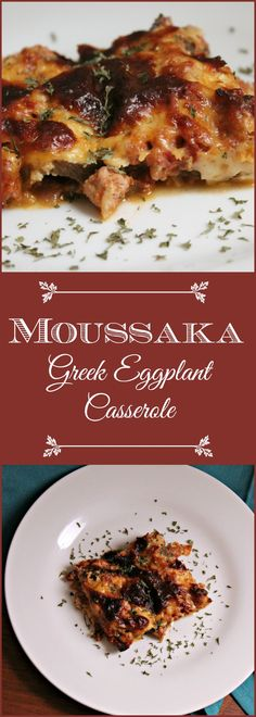 Moussaka (Greek Eggplant Casserole) is traditionally made with ground lamb or beef, but soy crumbles can also be used for a vegetarian alternative.