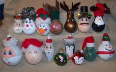 Light Bulb Christmas Ornaments - um.... not cute.... but good idea for service…