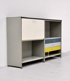 To know more about gispen 5600 low cabinet/ andre cordemeijer, visit Sumally, a social network that gathers together all the wanted things in the world! Featuring over 22 other gispen items too! Low Cabinet, Vintage Furniture, Locker Storage, Mid Century, Industrial, The Unit, Shelves, Dutch, Cabinets