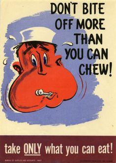 Consigli dalla Seconda Guerra Mondiale : Non sprecare il cibo on http://pandamolesto.com