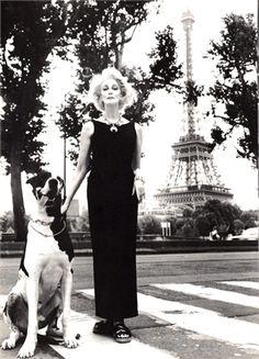 Carmen Dell'Orefice and the Great Dane