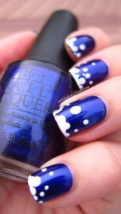 Blue Bubble Nails - Uñas burbujas azules