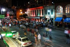 Street in Austin. I went there so many times when I was younger that I should've just lived there. Austin 6th Street, New Orleans Bourbon Street, Motorcycle Travel, Adventure Is Out There, Austin Tx, City Life, Places Ive Been, Bing Images, Places To Visit
