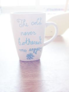 Frozen Inspired Quotes Mug on Etsy, $8.50