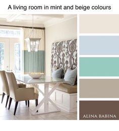 Colors: mint and beige