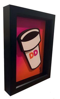 Dunkin Donuts Kitchen Art Dunkin Donuts Coffee Mug 3D by PopsicArt