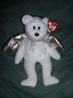 85181b137e3 TY Halo II Beanie Baby 2 Retired 2000 Nose Error Angel Wings Rare