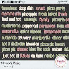 Mario´s Pizza Word Art By Lisete Scrap