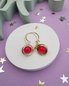 Orbit Pink Neon Earrings. Free Shipping. Agate Gemstone, Gemstone Rings, June Birth Stone, Jade Stone, Smoky Quartz, Jewelery, Pearl Earrings, Perfume, Neon