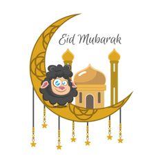 Eid Mubarak illustration with sheep and moon eid al adha PNG and Vector Ramadan Mubarak Wallpapers, Eid Mubarak Vector, Eid Mubarak Images, Eid Mubarak Stickers, Eid Stickers, Eid Mubarak Greetings, Happy Eid Mubarak, Poster Background Design, Background Patterns