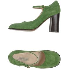 L' Autre Chose Court (315 BRL) ❤ liked on Polyvore featuring shoes, pumps, heels, light green, genuine leather shoes, leather shoes, l'autre chose, round toe shoes and leather footwear