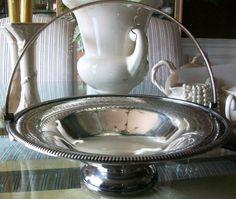 Antique Silverplate Bridal Basket Martin Hall & by LaCheriMaison, $250.00