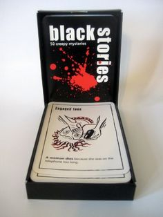 Black Stories Mysteries Game - U.S. Edition Perfect Party Game for 2 - 15 Players (For Ages 14 and Up) Kikigagne