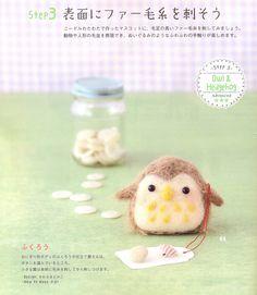 《3 Steps DIY Felt Wool Doll》 - Japanese craft book