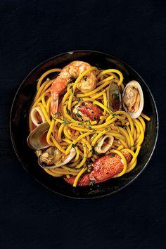 The recipe for this shellfish-laden pasta comes from chef Michael Chiarello.