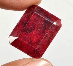 42.00 Ct Certified Natural Emerald Cut Red Ruby Loose Gemstone Gem No-1884