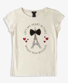Left My Heart In Paris Tee | FOREVER21 girls - 2050285412