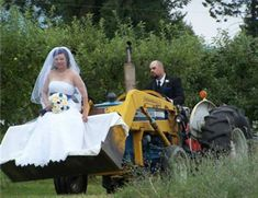 redneck wedding limo