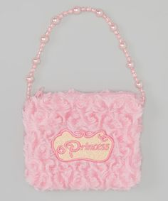 Wenchoice Pink 'Princess' Pearl Plush Shoulder Bag by Wenchoice #zulily #zulilyfinds