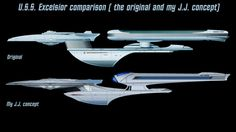 Concept drawing compared to the current Excelsior might be the next ship in the sequel of 2009 Star Trek!