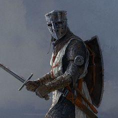 Knights Templar Warrior of Christ Medieval Knight, Medieval Armor, Medieval Fantasy, Armadura Medieval, Knights Templar Symbols, Knight Tattoo, Crusader Knight, Christian Warrior, Knight Art