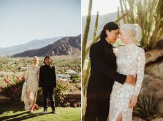 Minimal Aesthetic + Bougainvillea Pops Make for a Stylish Palm Springs Wedding Wedding Flower Inspiration, Wedding Flowers, Hermione, Floral Gown, White Gowns, Green Wedding Shoes, Palm Springs, Wedding Details, Wedding Styles