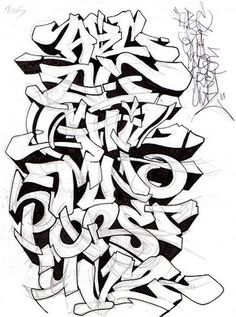 Graffiti Alphabet Sketch A-Z Letters By Mr. Poem | Graffiti Alphabets ...: