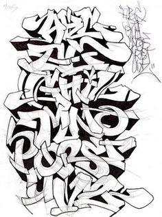 Graffiti Alphabet Sketch A-Z Letters By Mr. Poem | Graffiti Alphabets ...: