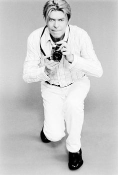 David Bowie with camera