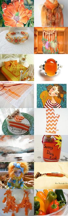 ORANGE YOU THE ONE by Vickie Wade on Etsy--Pinned with TreasuryPin.com