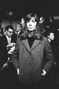 Françoise Hardy backstage at Top of the Pops in 1965