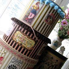 vintage hat boxes