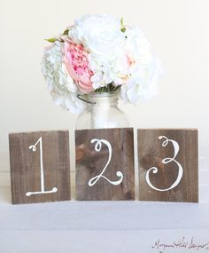 Wedding Table Numbers Rustic Chic Wood Barn by braggingbags, $4.00
