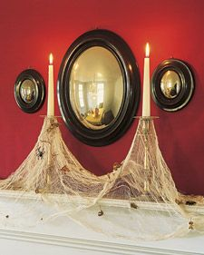 cobweb candles - martha stewart    got a cool candelabra at the thrift store, going to paint it black.