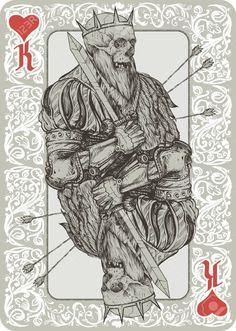 Skeleton King Playing Cart Suit Royalty ...