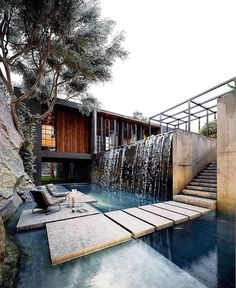 Top Home Design 100 Impressive Hillside House Design Models 13 Design Exterior, Modern Exterior, Modern Villa Design, Home Design, Design Ideas, Design Design, Concept Architecture, Architecture Design, Garden Architecture