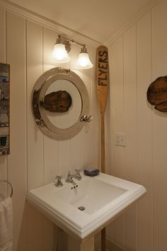 Custom Built Nautical Themed Cape Cod Bathroom With Beadboard Walls. By Cape  Associates, Inc