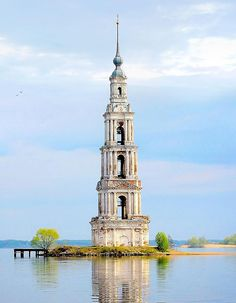 Bell Tower of Saint Nicholas Church in Kalyazin, Russia