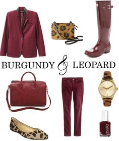 Burgundy and Leopard by Shannon Darrough c6be94799a