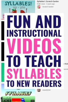 These are the BEST videos to teach syllables on YouTube. Whether you are looking for new ideas or just want to add some fun activities to your preschool, kindergarten or first grade classroom. Practice counting and breaking words into syllables with these engaging video ideas.